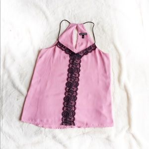 EXPRESS Pink Lace Barcelona Lined Cami
